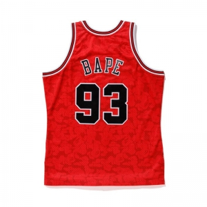 Bape X Mitchell & Ness NBA Jersey - Chicago Bulls