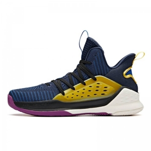 Giày bóng rổ Anta Klay Thompson KT4 Splash Mid - Blue Yellow