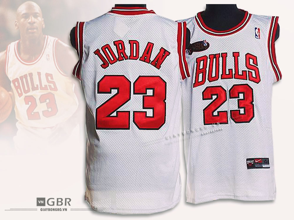 Áo NBA Chicago Bulls White - Jordan